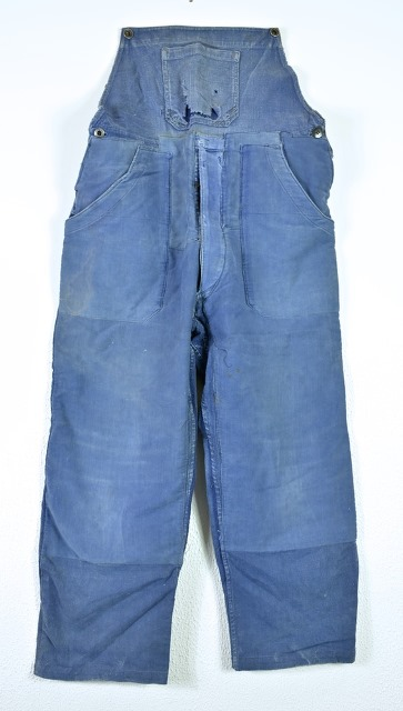 bazardespoilus french france workwear jackets jack long john blog pants trouser trousers blue indigo vintage original 1940 1950 for sale patched repaired  (8)