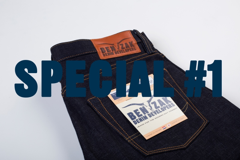 benzak denim developers bdd long john blog indigo collect mill japan jeans special fit 14oz selvage selvedge model white tee black 2016 lennaert nijgh leather patch (10)