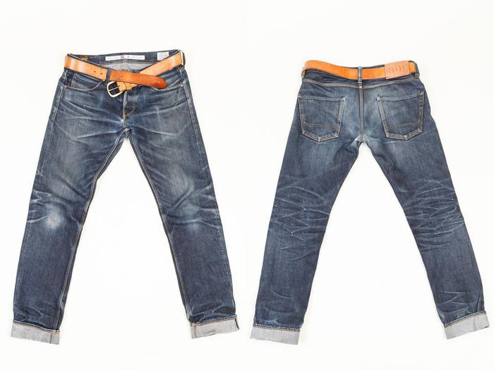 benzak denim developers lennaert nijgh long john blog jeans raw rigid holland handmade blue faded amsterdam holland rivets buttons selvage selvedge leather patch crowd funding 2 2014 (21)