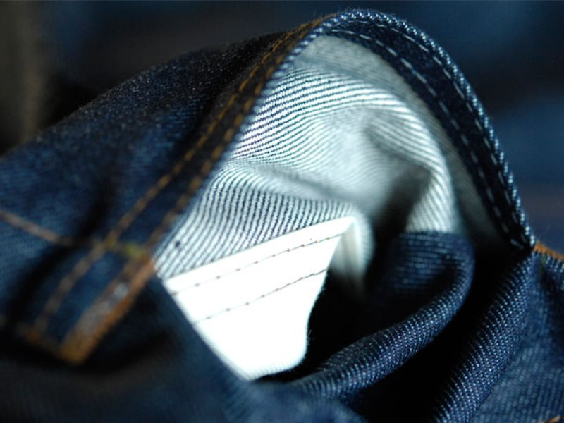 blaumann jeans denim long john blog raw rigid left hand kuroki japan fabric redline redlisting indigo blue leather patch germany (1)