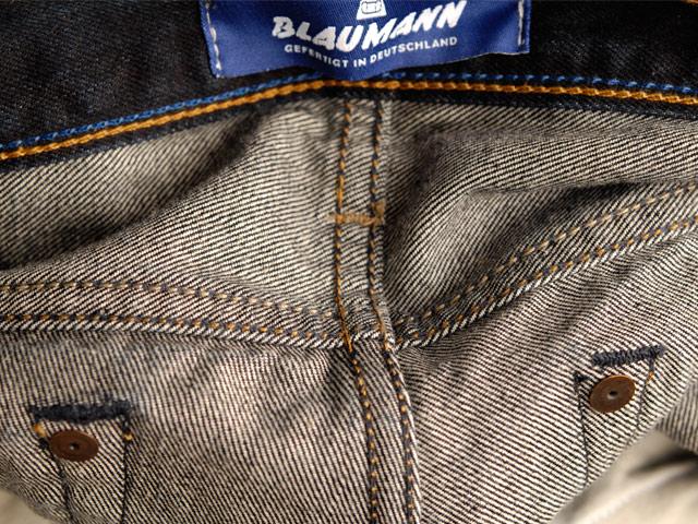blaumann jeans denim long john blog raw rigid left hand kuroki japan fabric redline redlisting indigo blue leather patch germany (11)