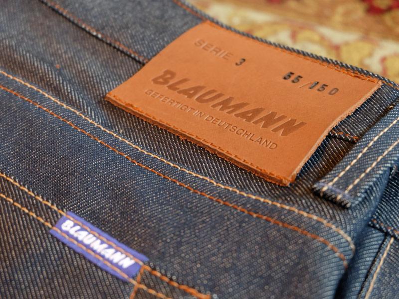 blaumann jeans denim long john blog raw rigid left hand kuroki japan fabric redline redlisting indigo blue leather patch germany (9)