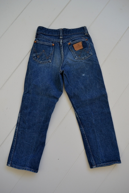 blue bell wrangler jeans denim long john blog wouter munnichs usa handmade non selvage zipper 5 pocket kids vintage private collection left hand fabric worn-out (11)