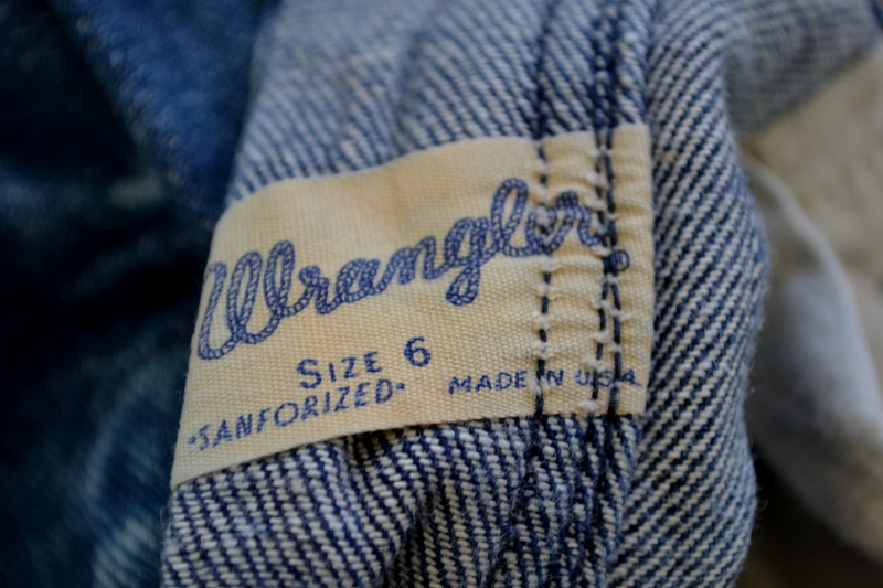 blue bell wrangler jeans denim long john blog wouter munnichs usa handmade non selvage zipper 5 pocket kids vintage private collection left hand fabric worn-out (15)