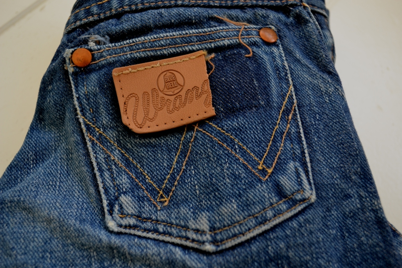 blue bell wrangler jeans denim long john blog wouter munnichs usa handmade non selvage zipper 5 pocket kids vintage private collection left hand fabric worn-out (3)