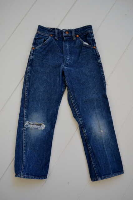 blue bell wrangler jeans denim long john blog wouter munnichs usa handmade non selvage zipper 5 pocket kids vintage private collection left hand fabric worn-out (5)