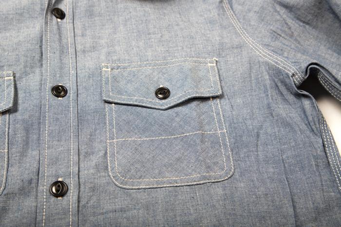 blue blanket jeans denim italy long john blog shirt blouse blue washed rigid raw selvage selvedge motor motors bikers biker never without buttons fish eye  (5)