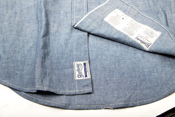blue blanket jeans denim italy long john blog shirt blouse blue washed rigid raw selvage selvedge motor motors bikers biker never without buttons fish eye  (7)