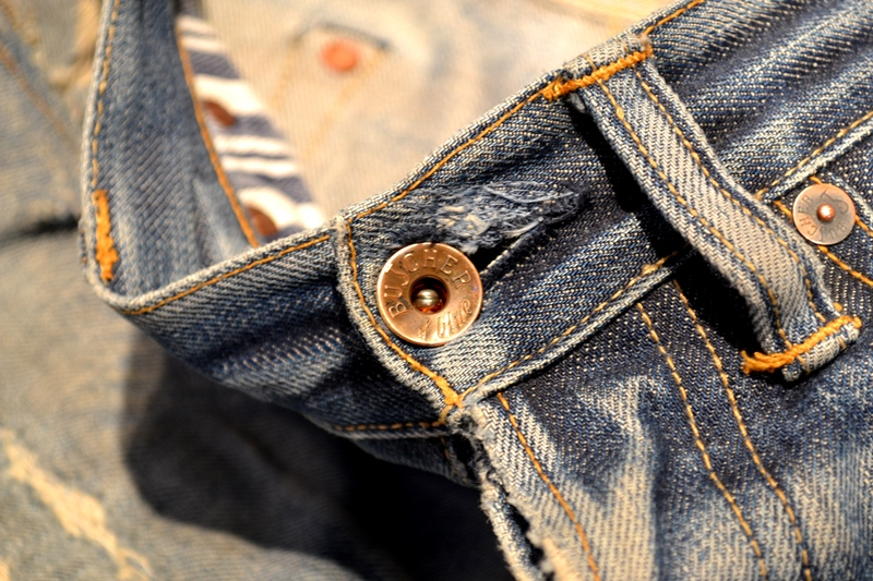 bob rijnders best of brands hoogland long john blog denim jeans butcher of blue worn-out holland repair patched hook blue unwashed selvage selvedge rigid torn patch 2 years old rinse 5 pocket  (11)