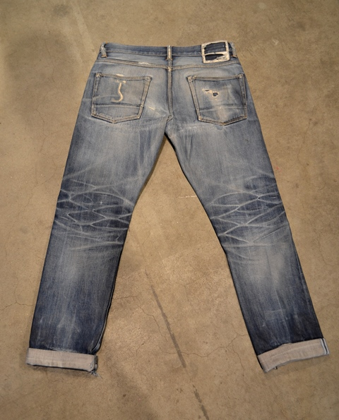 bob rijnders best of brands hoogland long john blog denim jeans butcher of blue worn-out holland repair patched hook blue unwashed selvage selvedge rigid torn patch 2 years old rinse 5 pocket  (12)