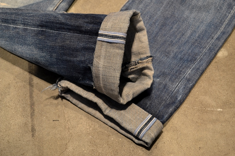 bob rijnders best of brands hoogland long john blog denim jeans butcher of blue worn-out holland repair patched hook blue unwashed selvage selvedge rigid torn patch 2 years old rinse 5 pocket  (8)