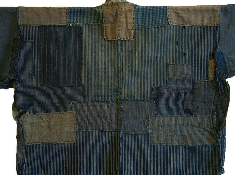 boro japan long john blog authentic patch repair clothing blue indigo workwear fisherman farmers  (1)