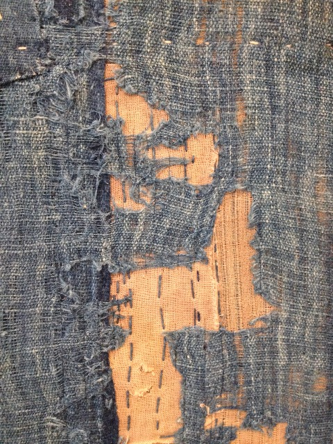 boro rags japan authentic fisherman farmers clothing long john blog blue sashiko stiching raw jeans denim blue 1900 old worn-out faded shit denim (3)