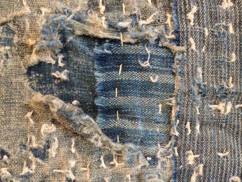 boro rags japan authentic fisherman farmers clothing long john blog blue sashiko stiching raw jeans denim blue 1900 old worn-out faded shit denim (5)