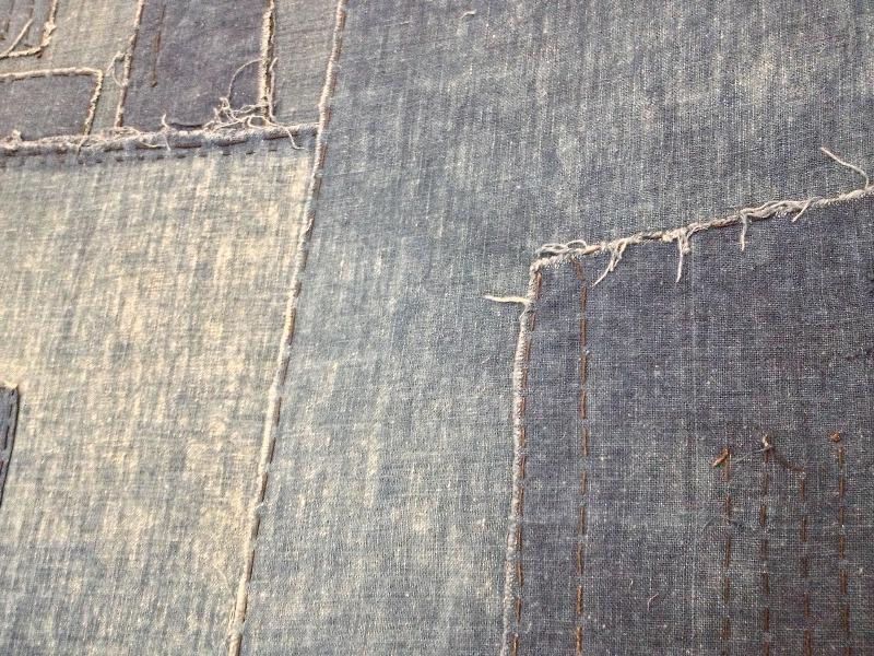 boro rags japan authentic fisherman farmers clothing long john blog blue sashiko stiching raw jeans denim blue 1900 old worn-out faded shit denim (7)