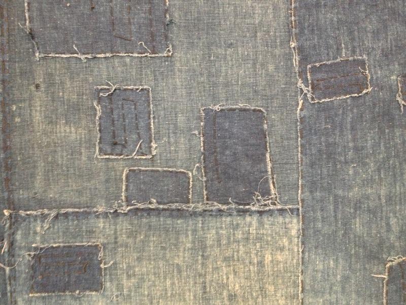 boro rags japan authentic fisherman farmers clothing long john blog blue sashiko stiching raw jeans denim blue 1900 old worn-out faded shit denim (8)