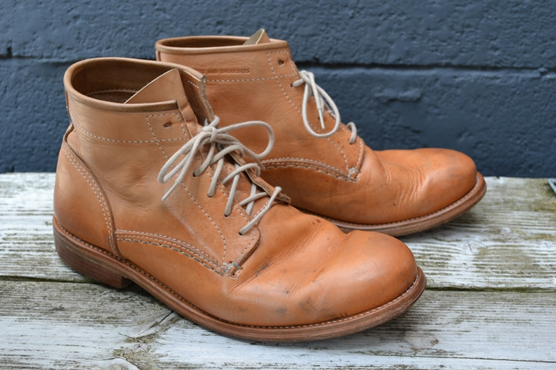 vegetable tanned leather work boots