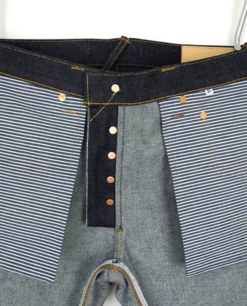 companion denim longjohn blogger blog joel 012N-5 bespoke jeans handmade selvage selvedge rainbow fabric aged ageing fades fade blue spijkerbroek blauw goud (9)