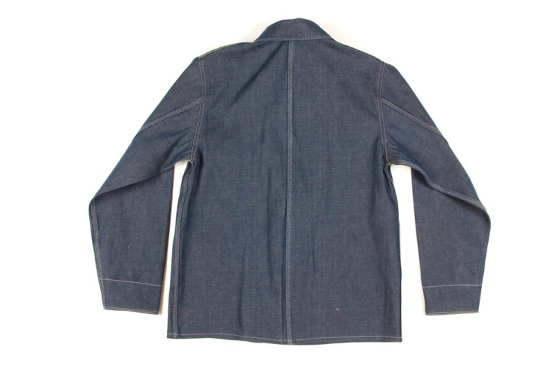 dawson denim jackets uk long john blog indigo blue workwear handmade jeans chore jackets selvage selvedge plain redline redlisting redlisted (6)