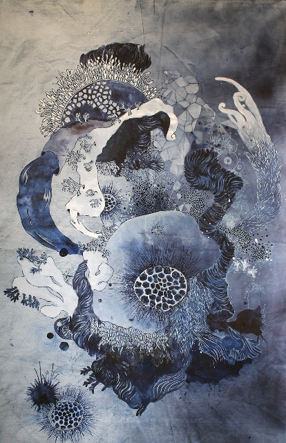de ver azul artist long john blog jeans denim blue raw unwashed rigid blauw kunstwerk kunst colombia medellin juan manuel gomez painter art  (3)