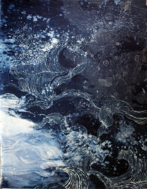 de ver azul artist long john blog jeans denim blue raw unwashed rigid blauw kunstwerk kunst colombia medellin juan manuel gomez painter art  (6)
