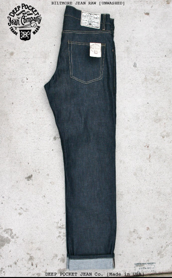 deep pocket jean company usa long john blog rigid raw selvage selvedge blue unwashed true fabric shuttle loom old slow fashion dry leather patch  (6)