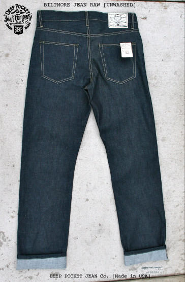 deep pocket jean company usa long john blog rigid raw selvage selvedge blue unwashed true fabric shuttle loom old slow fashion dry leather patch  (7)