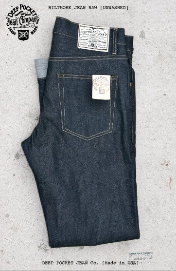 deep pocket jean company usa long john blog rigid raw selvage selvedge blue unwashed true fabric shuttle loom old slow fashion dry leather patch  (8)