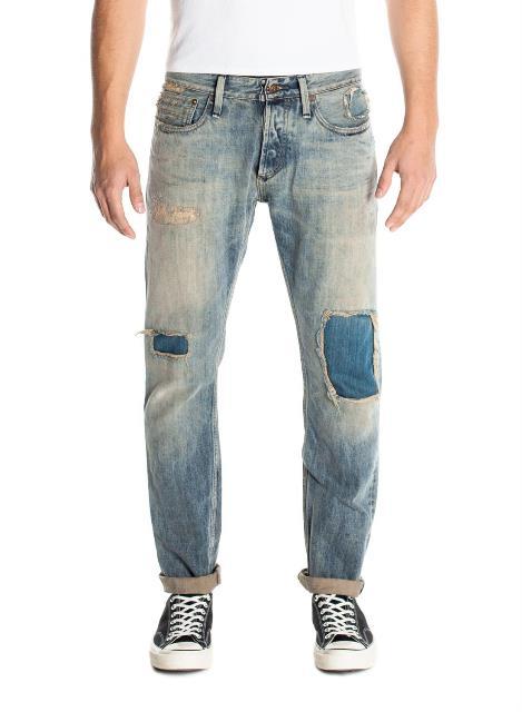 denham jason denham long john blog golden rivet razor slim jeans denim fit amsterdam blue indigo rivets gold selvage selvedge (1)