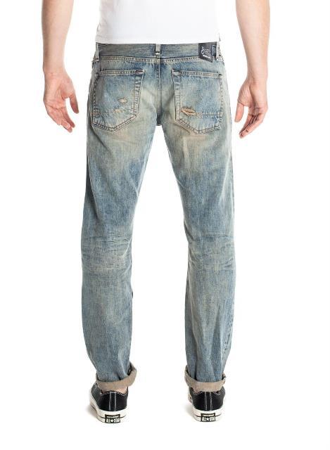 denham jason denham long john blog golden rivet razor slim jeans denim fit amsterdam blue indigo rivets gold selvage selvedge (2)