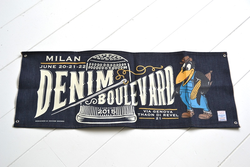 denim boulevard banner window long john blog jeans selvage selvedge davide biondi graphic design farmer candiani italy mill event fair milan 2015 italy  (2)