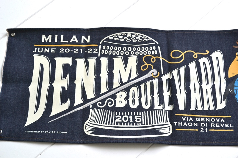 denim boulevard banner window long john blog jeans selvage selvedge davide biondi graphic design farmer candiani italy mill event fair milan 2015 italy  (4)