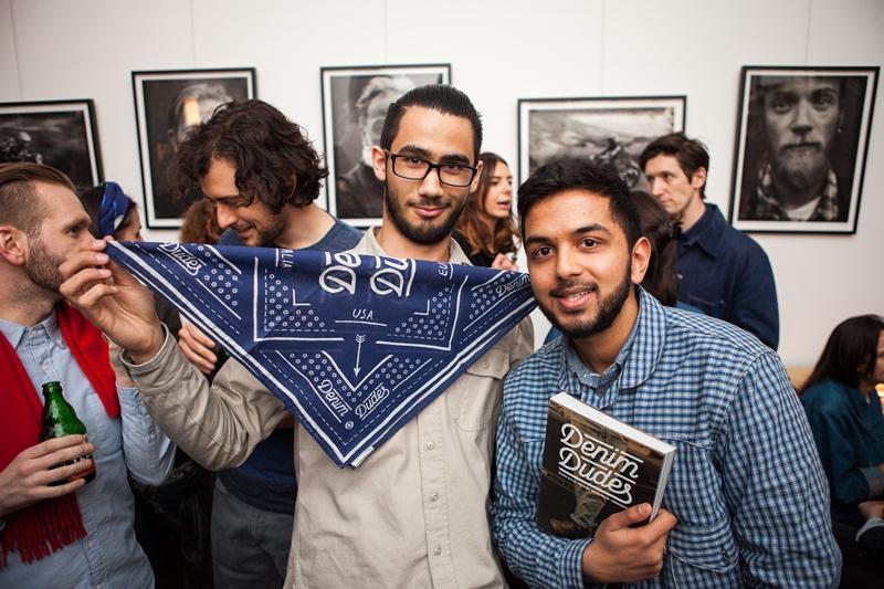 denim dudes event bolt london store long john blog amy leverton book launch shop jeans boys selvage selvedge vintage collectors designers vedett sailor jerry rum beer music people dude bandana (11)