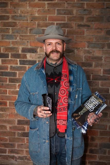 denim dudes event bolt london store long john blog amy leverton book launch shop jeans boys selvage selvedge vintage collectors designers vedett sailor jerry rum beer music people dude bandana (6)