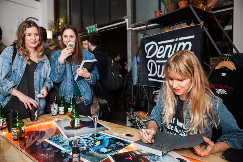 denim dudes event bolt london store long john blog amy leverton book launch shop jeans boys selvage selvedge vintage collectors designers vedett sailor jerry rum beer music people dude bandana blue magic (1 (2)