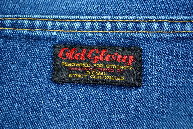 diesel old glory vintage long john blog labour denim jeans italy made 1994 blue indigo renzo rosso collection non selvage selvedge leather patch  (14)