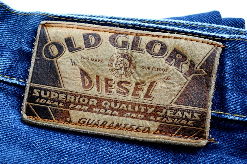 diesel old glory vintage long john blog labour denim jeans italy made 1994 blue indigo renzo rosso collection non selvage selvedge leather patch  (3)