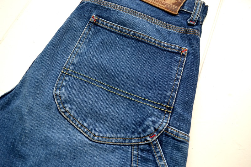 diesel old glory vintage long john blog labour denim jeans italy made 1994 blue indigo renzo rosso collection non selvage selvedge leather patch  (4)