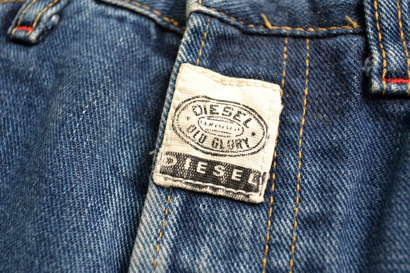 diesel old glory vintage long john blog labour denim jeans italy made 1994 blue indigo renzo rosso collection non selvage selvedge leather patch  (6)