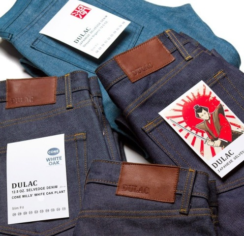 dulac denim jeans selvage long john blog raw rigid blue unwashed blue 5 pocket pocket flasher cone mills japan fabrics spijkerboek usa handmade authentic handgemaakt blauw  (3)