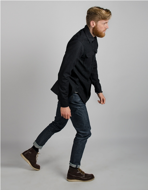 dumluck long john blog denim jeans handmade almere amsterdam the third collection fall winter 2014 handgemaakt blauw blue selvage deadstock cone mills usa selvedge jack jackets rigid raw unwashed ongewassen (6)