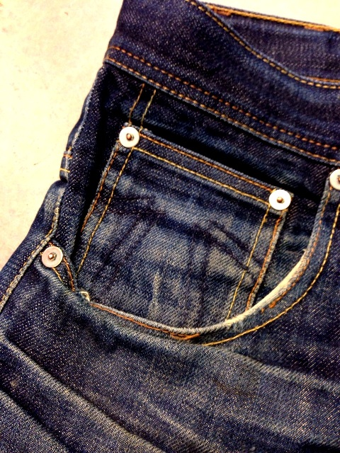 eat dust fit 73 vif jeans long john blog worn out denim blue faded blue antwerp richard smit raw rigid selvage selvage japan japanese fabric gedragen patch leer leather  (10)
