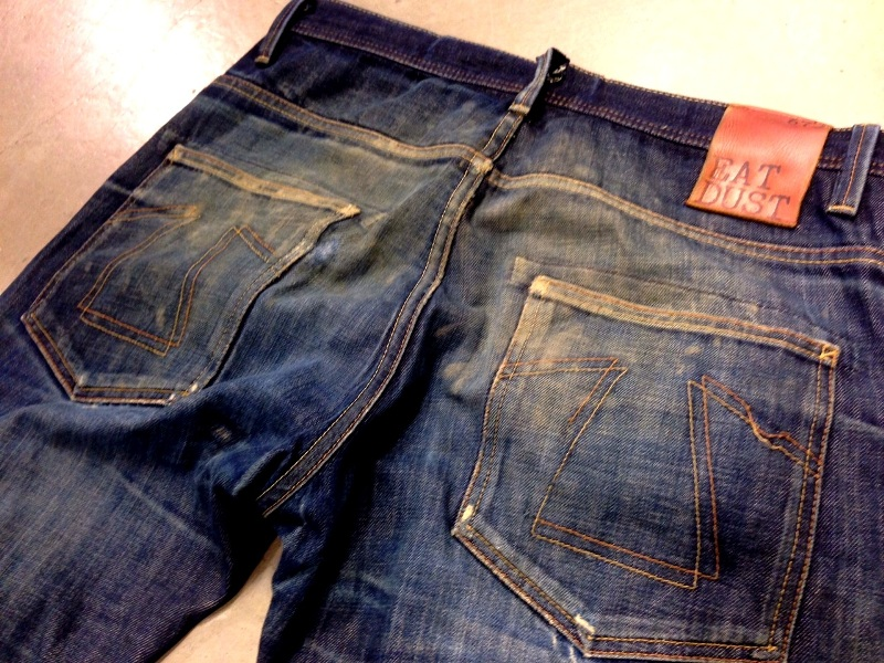 eat dust fit 73 vif jeans long john blog worn out denim blue faded blue antwerp richard smit raw rigid selvage selvage japan japanese fabric gedragen patch leer leather  (3)