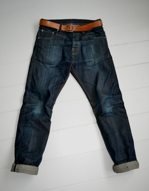 eat dust jeans denim clothing long john blog antwerp belgium rob harmsen keith hioco bikers fit 73 selvage selvedge blue japan fabric worn-out projects faded blue raw authantic (2)
