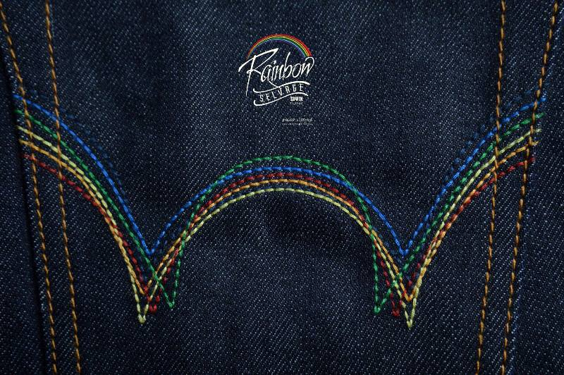edwin jeans long john blog selvage selvedge rainbow colours 2016 limited edition special leather patch label natural blue indigo edwin malysia (1)
