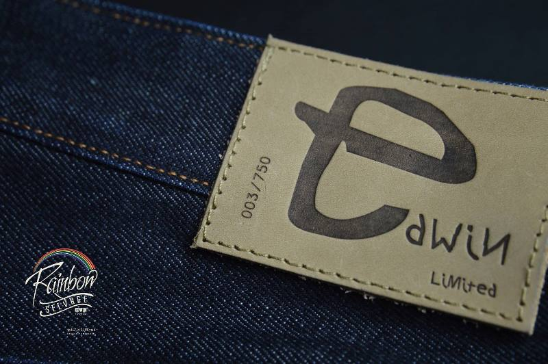 edwin jeans long john blog selvage selvedge rainbow colours 2016 limited edition special leather patch label natural blue indigo edwin malysia (2)