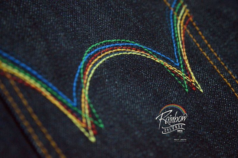 edwin jeans long john blog selvage selvedge rainbow colours 2016 limited edition special leather patch label natural blue indigo edwin malysia (6)