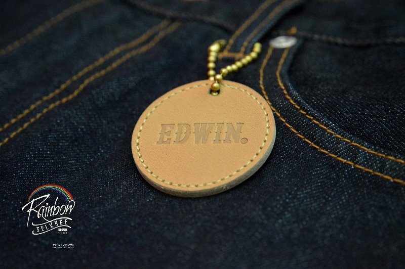 edwin jeans long john blog selvage selvedge rainbow colours 2016 limited edition special leather patch label natural blue indigo edwin malysia (7)