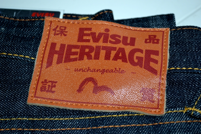 evisu evis japan long john blog orange tab homage to levi's jeans denim rigid raw selvage tribute limited edition selvedge right hand denim 5 pocket spijkerbroek eerbetoon pocket flasher leather leer patch  (4)