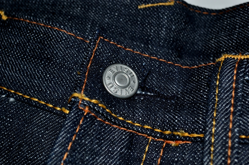 evisu evis japan long john blog orange tab homage to levi's jeans denim rigid raw selvage tribute limited edition selvedge right hand denim 5 pocket spijkerbroek eerbetoon pocket flasher leather leer patch  (9)